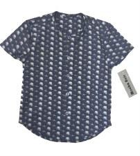 Hat Print S/S Shirt  Blue 6