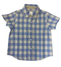 Checkered S/S Shirt Blue 2