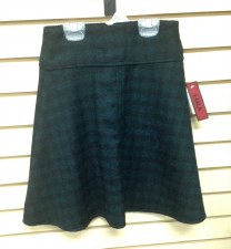 Checked Wool Skirt Green 6