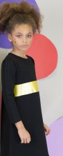Nightgown w/ Stripe Black/Gold