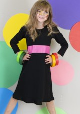 Nightgown w/ Stripe Black/Pink