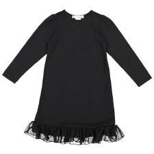 Rib Nightgown Black 6