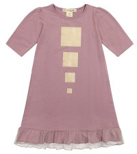 Nightgown w/ Gold Squares Lila