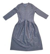 Teen Dress w/ Shimmer Stripes