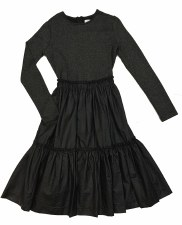 Teen Dress W/ Sparkle Black S(