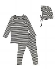 Rib Striped Set Blackberry 12M