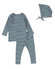 Rib Striped Set Blueberry 12M