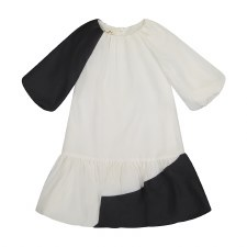Colorblock Bubble Dress Black/
