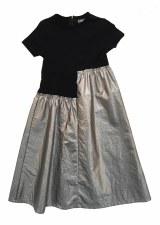 Metallic Combo Robe Black/Silv