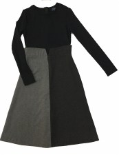 Colorblock Teen Dress Black/Gr