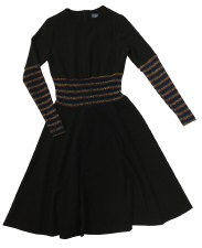 Teen Dress W/ Metallic Stripes