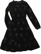 Sparkle Velour Teen Dress Blac