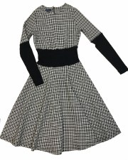 Houndstooth Teen Dress Black/W