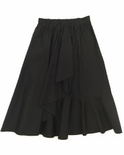 Teen Wrap Look Skirt Black L(2