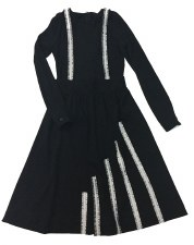 Ribbed Teen Jumper Dress Black