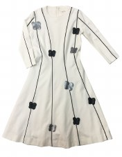 Teen Dress W/ Butterflies Crea