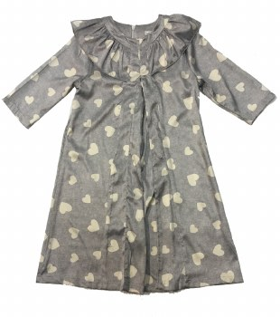 Dress W/ Hearts Grey 2