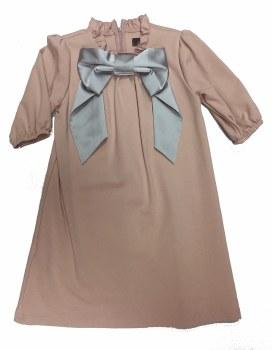 Dress W/ Bow Blush/Silver 6