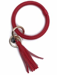 Red Wristlet Tassel Key Chain