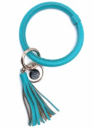 Turquoise Wristlet Tassel Key Chain
