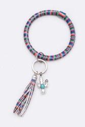 Cactus Serape Tassel Key Chain