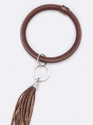 Soft Leather Bangle Key Chain