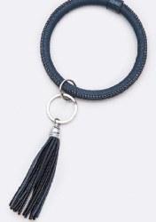 Soft Leather Bangle Key Chain