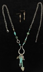Turquoise Arrow Charm Jewellery Set