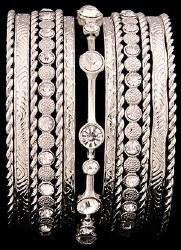 Silver & Crystal Bangle