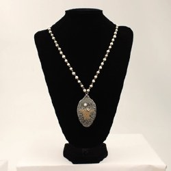 Antique White Beaded Necklace