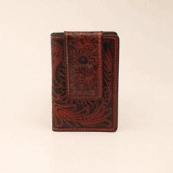 Tan Floral Pocket/Money Clip