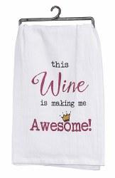 Awesome Wine Four Sack Towel