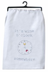 Wine O'Clock Flour Sack Towel
