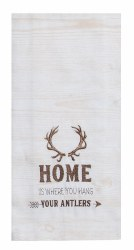 Lodge Antler Home Tea Towel
