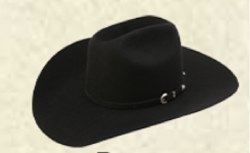 AHC Ranch Cowboy Black 10X Felt Hat