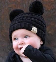 Baby Double Pom CC Beanie