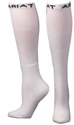 Ariat Mens White Over The Calf Boot Sock 2 pack