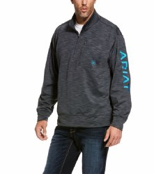 Mens Charcoal 1/4 Zip Pullover