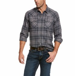 Mens Karlsen Charcoal Retro Fit Shirt