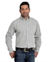 Mens Black/White Geo Print Shirt