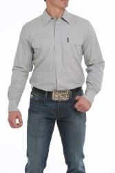 Mens Cinch Modern Fit Grey Snap Shirt