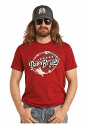 Mens Red Dale Brisby Bull Rider Tee
