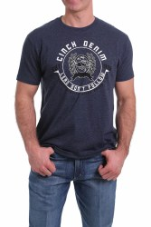 Mens Navy Cinch Logo Tee