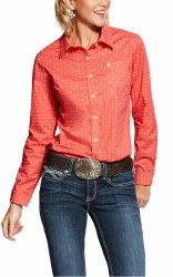 Ladies Coral Print Shirt