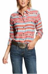 Ladies Serape Jacquard Button Shirt