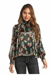 Ladies High Neck Kimono Top