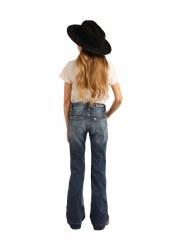 Girls Medium Wash Stretch Trouser