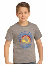 Boys Rodeo Time Sunset Tee