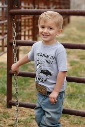 Toddler Boys Gray Roping Tee