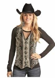 Ladies Wool Aztec Vest